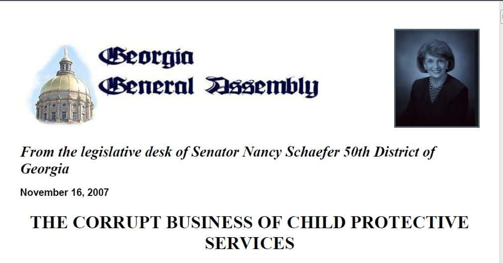 child protective services whistleblower Nancy Schaefer